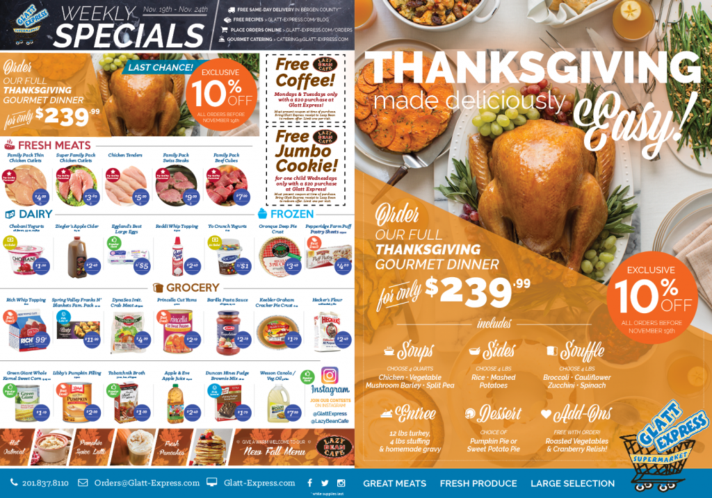 Kosher Thanksgiving Menu | Glatt Express | Teaneck, NJ