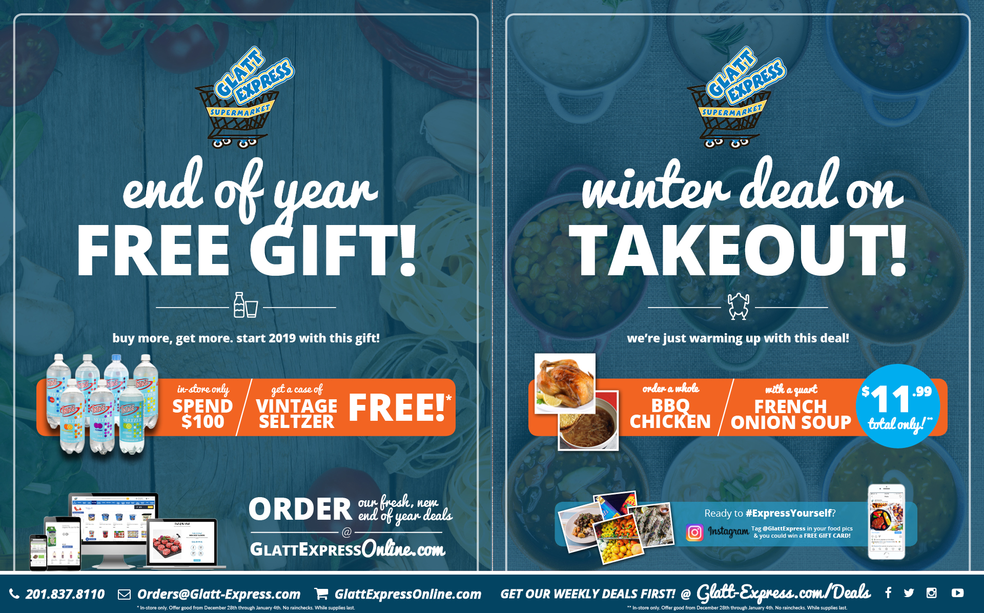 Winter Kosher Takeout Deal | Groceries, Recipes, Catering and Gourmet Foods | Glatt Express